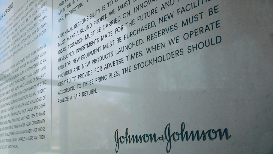 Johnson and Johnson Credo Wall